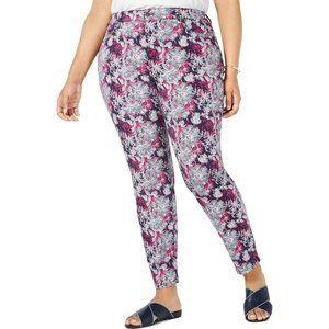 NWT  Charter Club 16W Skinny Leg Floral Ankle Jean